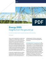 Energy 2050 Insights From the Ground Up