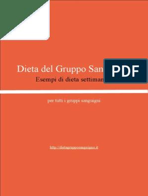 Dieta del gruppo zeropositivo