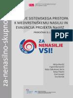 Osnove sistemskega pristopa k medvrstniškemu nasilju in evalvacija projekta NasViz - Priročnik št. 1