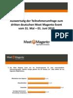 Umfrage-Auswertung Meet Magento #3.10, Leipzig