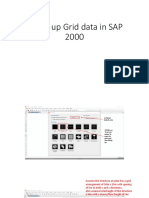 Seting Up Grid Data in SAP 2000