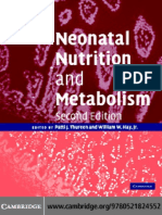 Neonatal Nutrition and Metabolism 2nd Ed. - P. Thureen, Et. Al., (Cambridge, 2006) WW