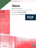 Villancico (SATB) - Bruce Trinkley and J. Jason Charnesky