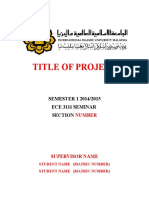 ECE 3111 Seminar Report Template