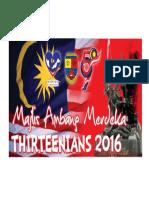 Banner Majlis Ambang Merdeka