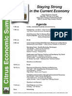 Agenda and Program -  Citrus Economic Summit Program