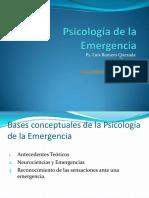 Psicología de La Emergencia Clase 1