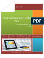Programming Excel Using VBA V3