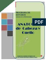 Programa Antomia Cabeza Cuello Neurojun205