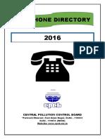 CPCB Tel Directory 2016