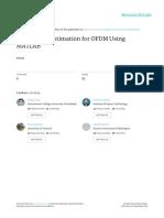 Time Offset Estimation for OFDM Using MATLAB