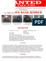 Unknown Bank Robber