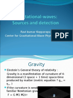 Detection of gravitational waves from merging black holes.