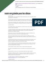 Articulo Teatro Niños El Norte