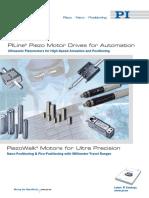 PI Brochure Piezomotor Piezo Motor PiezoWalk Ultrasonic Actuator
