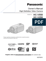 Panasonic V550 HC-V250 manual