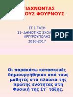 ΦΤΙΑΧΝΟΝΤΑΣ ΗΛΙΑΚΟΥΣ ΦΟΥΡΝΟΥΣ