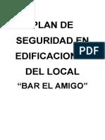 Plan de Seguridad en Edificaciones Del Local