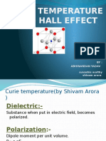 Curie Temperature and Hall Effect