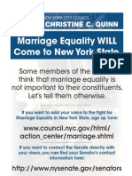 Join Speaker Quinn in Supporting Marriage Equality!