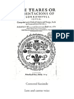 Lute and Cantus Voice Amended Facsimile