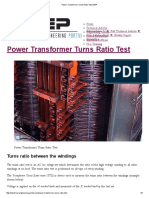 Power Transformer Turns Ratio Test _ EEP