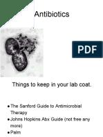 Antibiotics Lecture