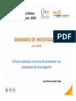 Errores Comunes Presentación Propuesta de Investigación (1)