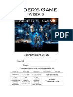 enders game week 5 packet