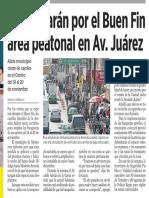 17-11-16 Aumentarán por el Buen Fin área peatonal en Av. Juárez