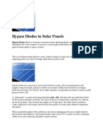 Bypass Diodes in Solar Panels