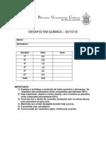 Resolucao Prova Desafio-quimica 2015