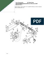 Mast Tilt Cylinder Hydraulic Circuit%2c Models With Dual Lift Cylinders%2c w%2f31 Degree Forward Mast Tilt