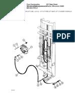 14 Foot Free Lift Mast Lift Cylinder Hydraulic Circuit