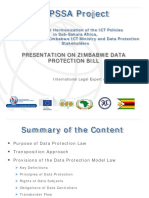 Zimbabwe_Overview of Data Protection Bill_Zimbabwe July 2013 Version 1
