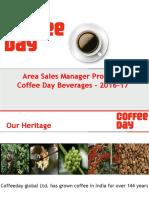 Coffee Day Beverages Presentation-2016-17 ASM (Sales)