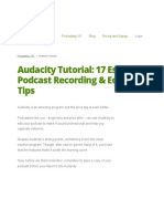 Audacity Tutorial 17 Essentials