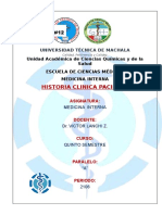 Historia Clinica Paciente Caratula