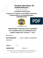 AVANCE DE TESIS Universidad Nacional de Huancavelica