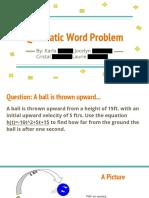quadratic word problem