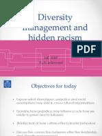 Diversity Mgt and Hidden Racism ME2089