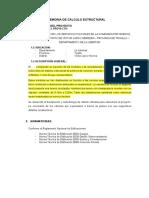 Memoria de Cálculo Estructuras Comisaria