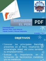 Batolitos en El Peru