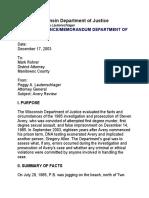 DOJ Report on 1985 Beernsten Rape Cover-Up