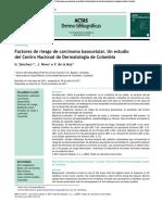 Carcinoma Basocelular Articulo Original Rv 12 Co