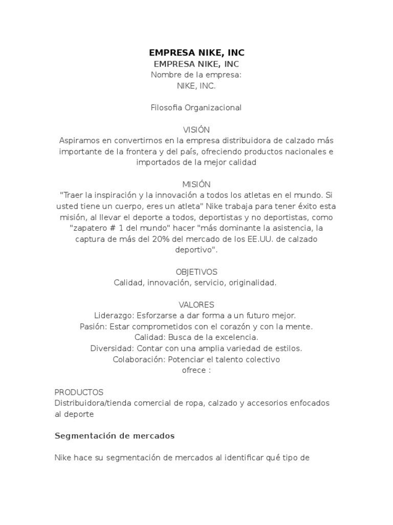 almohadilla Esquivar Comedia de enredo  Empresa Nike | Nike | Marketing