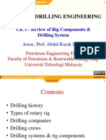 Ch 1 Review of Rig Components & Drilling System