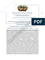 PROCEDIMENTO de DIREITO ARBITRAL Cláusla Aditiva Ao Termo de Compromisso Arbitral