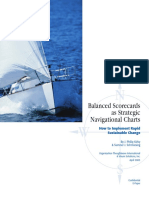 BSC - Balanced Scorecard as Strategic Navigational Charts