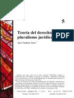 Teoría Del Derecho y Pluralismo